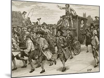 The Mob Releasing Mr Wilkes on His Way to Prison--Mounted Giclee Print