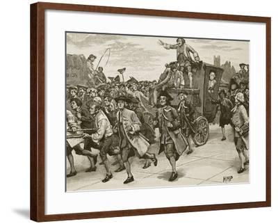 The Mob Releasing Mr Wilkes on His Way to Prison--Framed Giclee Print