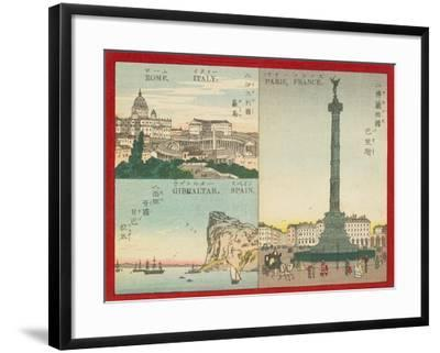 Famous Places in the World - European Cities, 1887--Framed Giclee Print