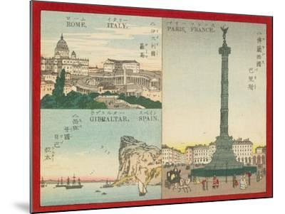 Famous Places in the World - European Cities, 1887--Mounted Giclee Print