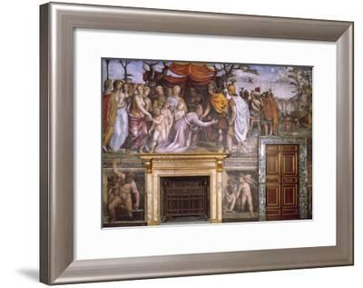 Dario's Mother Begging Alexander the Great and Vulcan at Forge with Cupids--Framed Giclee Print