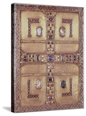 Queen Theodelinda's Gospel Book Cover in Gold, Cameos, Enamels and Precious Stones, Ca 603--Stretched Canvas Print
