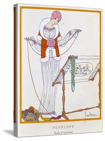 Gazette Du Bon Ton, Penelope, House Dress, 1920--Stretched Canvas Print