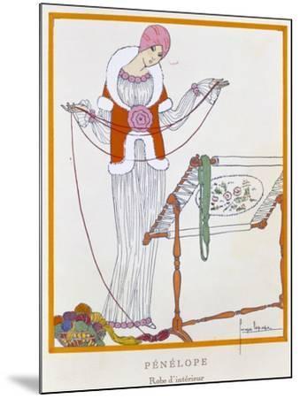 Gazette Du Bon Ton, Penelope, House Dress, 1920--Mounted Giclee Print