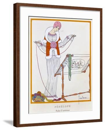 Gazette Du Bon Ton, Penelope, House Dress, 1920--Framed Giclee Print