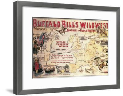 Buffalo Bill's Wild West and Congress of Rough Riders, Poster, 1892--Framed Giclee Print