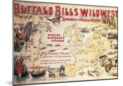 Buffalo Bill's Wild West and Congress of Rough Riders, Poster, 1892--Mounted Giclee Print