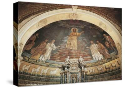Christ in Heaven, Apse Mosaic, Basilica of Saints Cosmas and Damian, Rome, Italy, 6th Century--Stretched Canvas Print