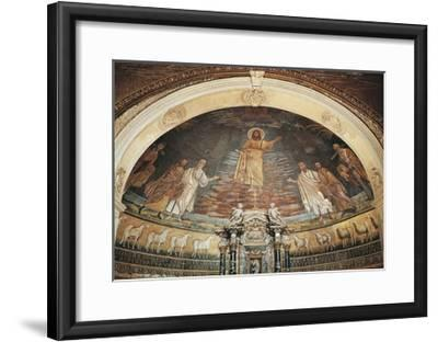 Christ in Heaven, Apse Mosaic, Basilica of Saints Cosmas and Damian, Rome, Italy, 6th Century--Framed Giclee Print