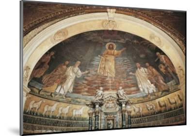 Christ in Heaven, Apse Mosaic, Basilica of Saints Cosmas and Damian, Rome, Italy, 6th Century--Mounted Giclee Print