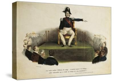 France, Paris, Caricature of Louis-Philippe I at Chamber of Deputies Session, July 23Rd, 1831--Stretched Canvas Print
