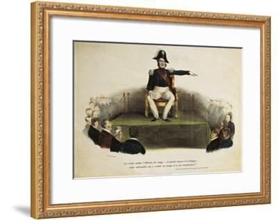 France, Paris, Caricature of Louis-Philippe I at Chamber of Deputies Session, July 23Rd, 1831--Framed Giclee Print
