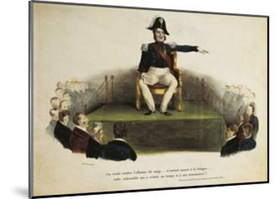 France, Paris, Caricature of Louis-Philippe I at Chamber of Deputies Session, July 23Rd, 1831--Mounted Giclee Print
