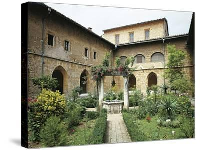 Gothic Cloister in Monastery of St Scholastica, Subiaco--Stretched Canvas Print