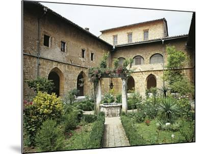 Gothic Cloister in Monastery of St Scholastica, Subiaco--Mounted Giclee Print