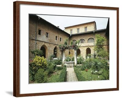 Gothic Cloister in Monastery of St Scholastica, Subiaco--Framed Giclee Print