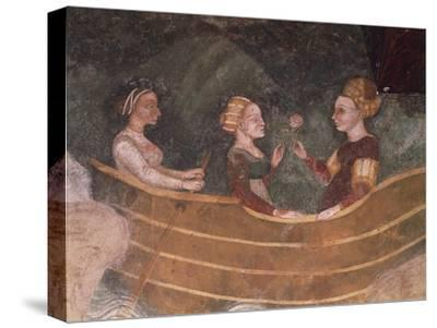 Women in Boat, Detail--Stretched Canvas Print
