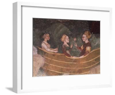 Women in Boat, Detail--Framed Giclee Print