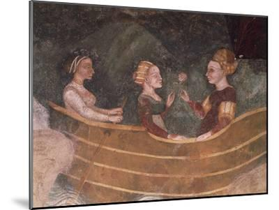 Women in Boat, Detail--Mounted Giclee Print