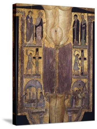 Crucifix, Detail of Central Part, 12th Century--Stretched Canvas Print