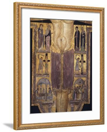 Crucifix, Detail of Central Part, 12th Century--Framed Giclee Print