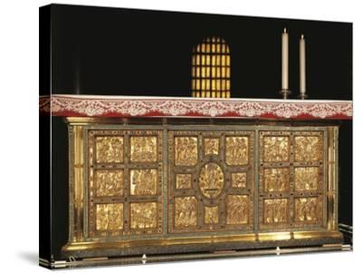 Italy, Milan, Basilica of Sant'Ambrogio, Front of Golden Altar or Frontal--Stretched Canvas Print