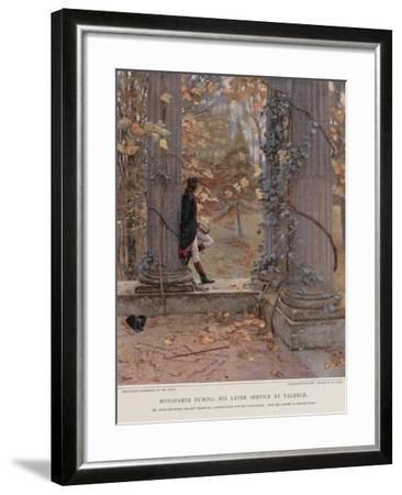 Bonaparte During His Later Service at Valence--Framed Giclee Print