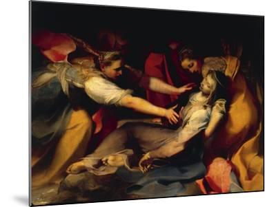 Fainting of the Virgin, Detail from the 'Deposition of the Cross', 1569--Mounted Giclee Print