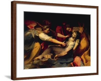 Fainting of the Virgin, Detail from the 'Deposition of the Cross', 1569--Framed Giclee Print