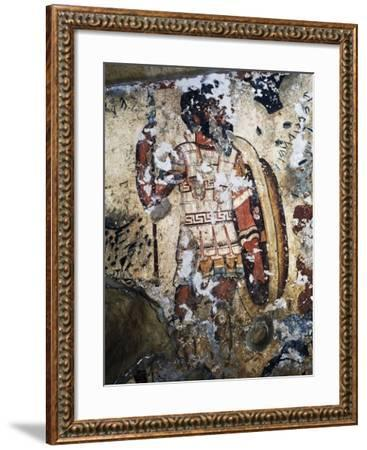 Figure of Warrior, Fresco of Tomb of Orcus, Necropolis of Tarquinia--Framed Photographic Print