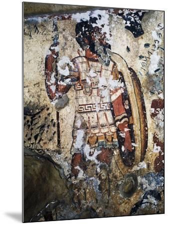Figure of Warrior, Fresco of Tomb of Orcus, Necropolis of Tarquinia--Mounted Photographic Print