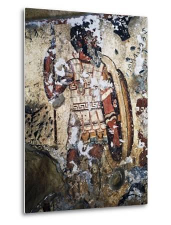Figure of Warrior, Fresco of Tomb of Orcus, Necropolis of Tarquinia--Metal Print