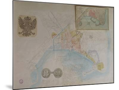 Map of Trieste, Italy--Mounted Giclee Print