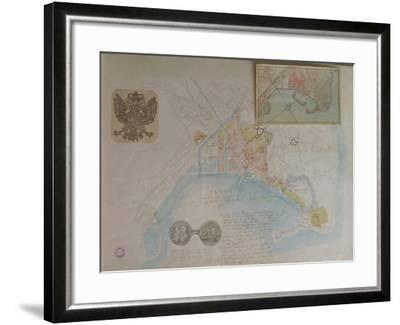 Map of Trieste, Italy--Framed Giclee Print