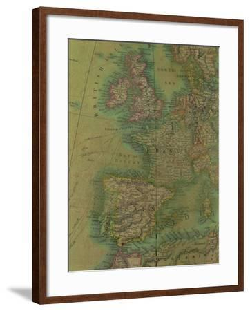 Europe: Detail from a Terrestrial Colossus Globe--Framed Giclee Print