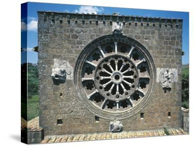 Detail from the Romanic Rose-Window in the Church of Santa Maria Maggiore, Tuscania, Italy--Stretched Canvas Print