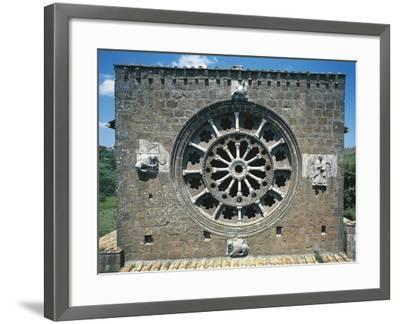Detail from the Romanic Rose-Window in the Church of Santa Maria Maggiore, Tuscania, Italy--Framed Giclee Print