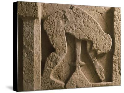 Metope Depicting Suicide of Ajax Who Throws Himself onto His Sword, Relief of Ancient Thesaurus--Stretched Canvas Print
