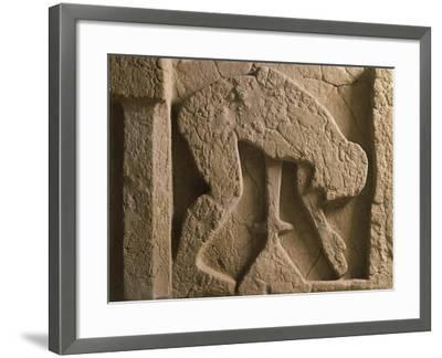 Metope Depicting Suicide of Ajax Who Throws Himself onto His Sword, Relief of Ancient Thesaurus--Framed Giclee Print