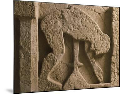 Metope Depicting Suicide of Ajax Who Throws Himself onto His Sword, Relief of Ancient Thesaurus--Mounted Giclee Print