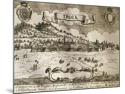 Italy, Troia, View of Troia--Mounted Giclee Print