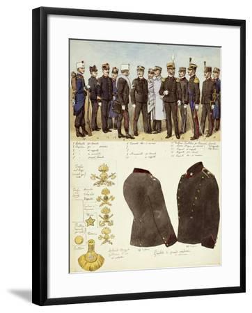 Uniforms of Genio--Framed Giclee Print