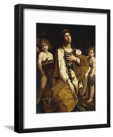 Italy, Saint Catherine with Angels--Framed Giclee Print