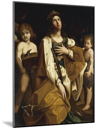 Italy, Saint Catherine with Angels--Mounted Giclee Print