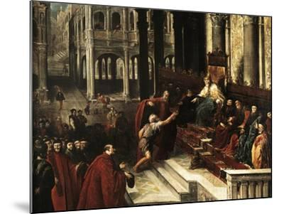 Italy, Venice, Painting of Fisherman Giving Ring to Doge of Venice--Mounted Giclee Print