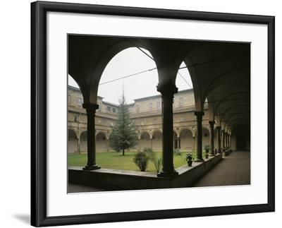 Glimpse of Cloister, St Benedict Abbey of San Giovanni Evangelista, Parma, Italy, 16th Century--Framed Giclee Print