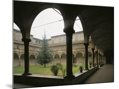 Glimpse of Cloister, St Benedict Abbey of San Giovanni Evangelista, Parma, Italy, 16th Century--Mounted Giclee Print