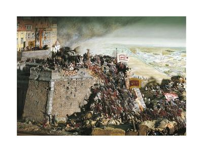 Austria, Vienna, Turkish Kara Mustafa Troops Lay Siege to Vienna, 1683, Diorama--Framed Giclee Print