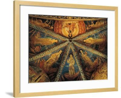 Italy, Montefalco, Vault of Apse of Church of Saint Francis Painted with Saints--Framed Giclee Print