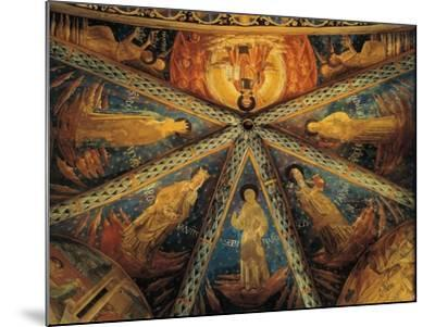 Italy, Montefalco, Vault of Apse of Church of Saint Francis Painted with Saints--Mounted Giclee Print